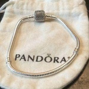 Authentic pave bracelet sz 7 inches